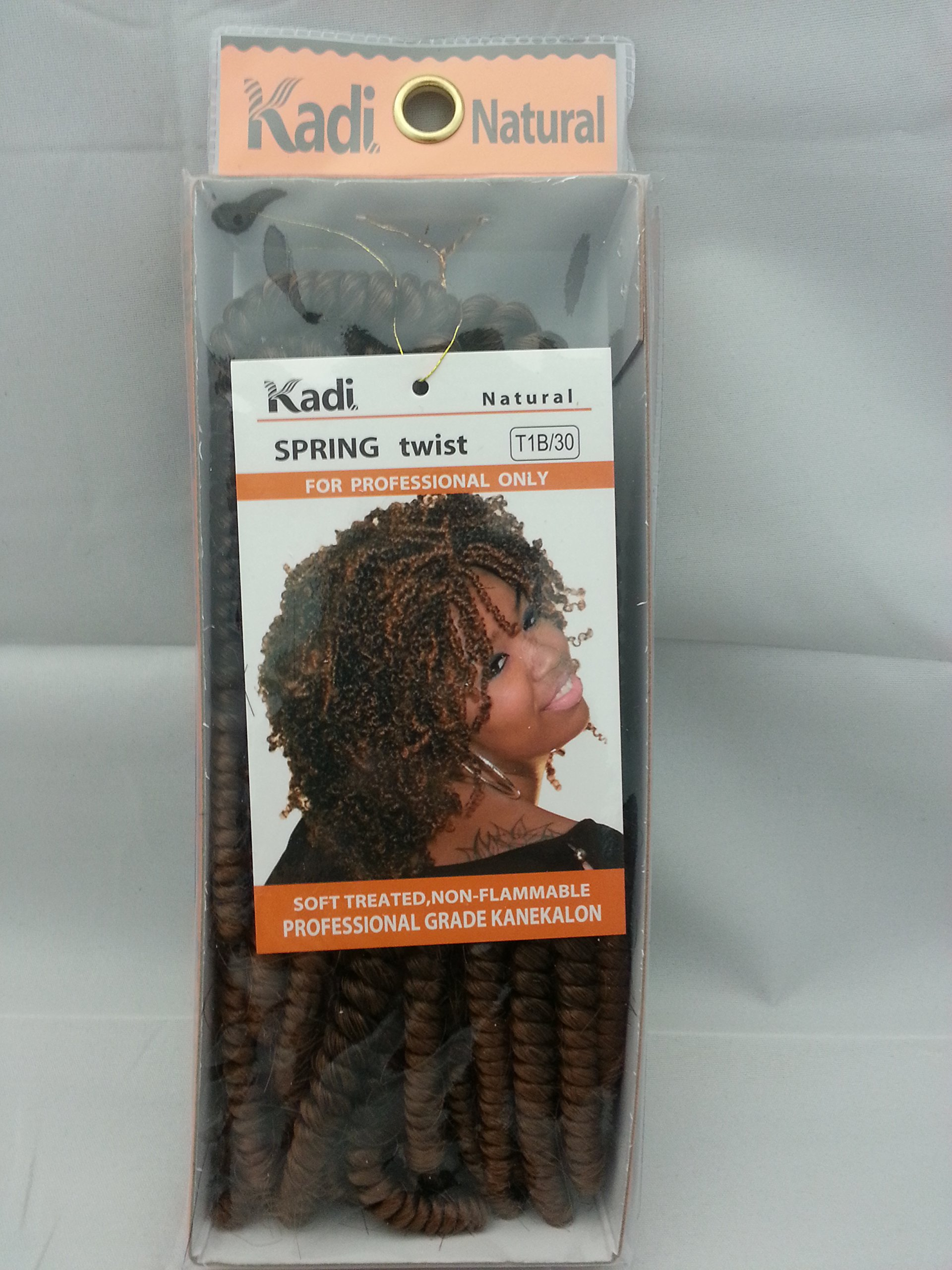 Kadi Natural Braiding Style, Hair Extension, Professional Grade Kanekalon (T1B/30 - Black/Medium Auburn, SPRING TWIST)