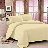 Story@Home Bedsheet for Double Bed With 2 Pillow Covers Combo Set, 100% Cotton - Magic Series, 152 TC, Solid (Brown)