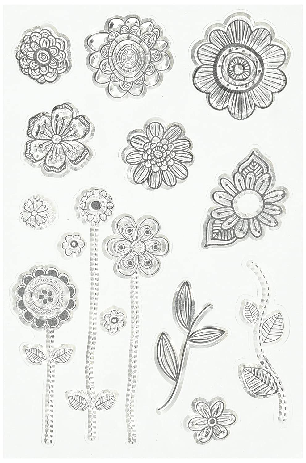 Bo Bunny 12105441 260411 Stamps, Doodle Blooms Notions