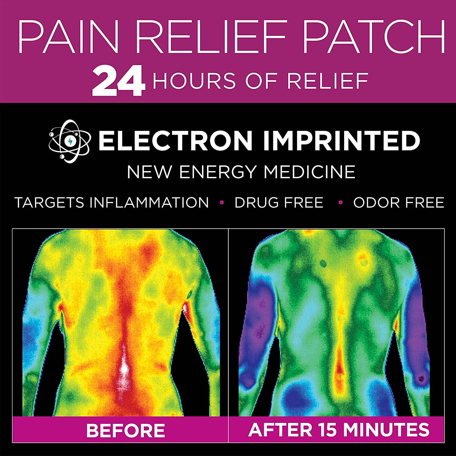 91yAMITxemL._SL1500_ amazon com luminas pain relief patch (for joint pain, back pain