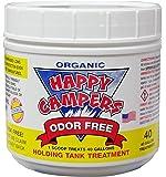 Happy Campers Organic RV Holding Tank Treatment - medium jar, 40 treatments for RV, Marine, Camping, Portable Toilets