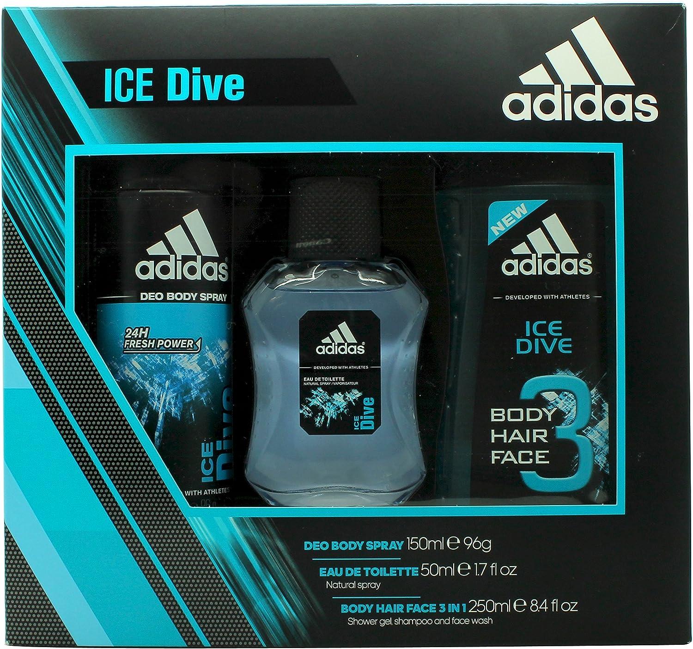 Coffret cadeau Adidas Ice Dive avec 3 produits: