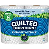 Quilted Northern Ultra Soft & Strong Toilet Paper, 4 Mega Rolls = 16 Regular Rolls, 2-ply Bath Tissue