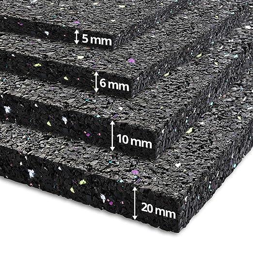 caoutchouc isonoriant isolant batterie id/éal machine /à laver 20mm Tapis anti vibration etm/® 60x60cm 20 ou 20mm d/épaisseur etc | 5