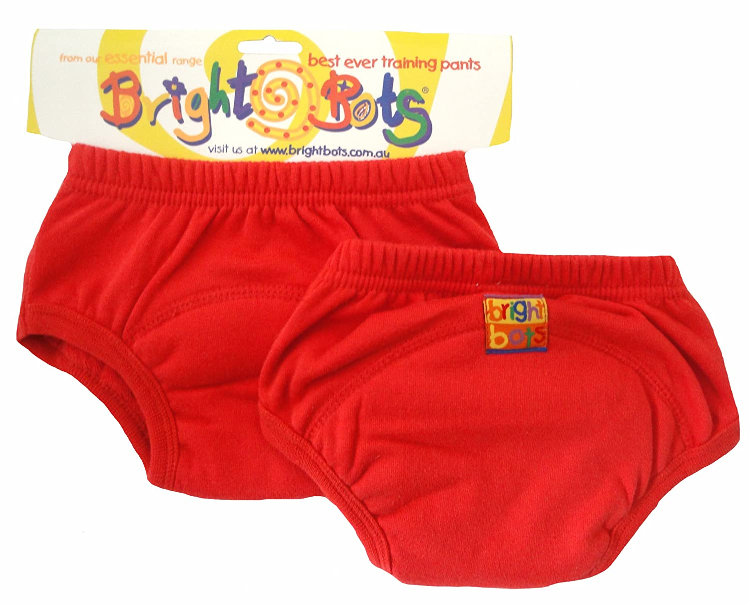 Bright Bots Potty Training Pants (Twin Pack, Red, Large, 24 - 30 months) 2AAETRA1-2RL