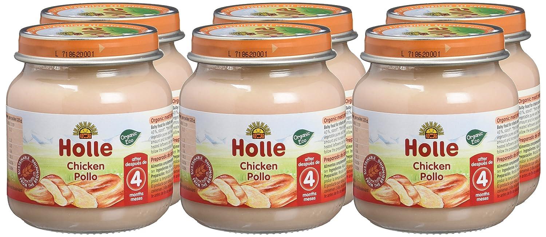 Holle Potito de Pollo (+4 meses) - Paquete de 6 x 125 gr - Total: 750 gr: Amazon.es: Alimentación y bebidas