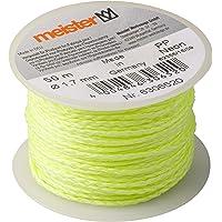 Meister Metselaarsnoer neon geel - 50 m lengte - Ø 1,7 mm - gevlochten polypropyleen - knoopvast - scheurvast…