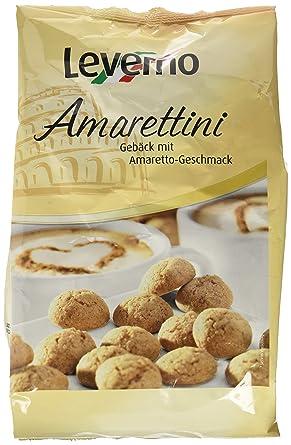 Leverno Galletas con Sabor de Amaretto - Paquete de 10 x 250 gr - Total: