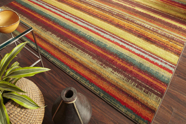 Mohawk Home New Wave Boho StripePrinted Rug,2'x8',Multicolor