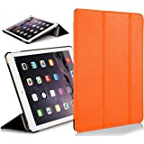"ForeFront Cases® New Apple iPad Mini 7.9"" with Retina Display Leather Case Cover / Stand with Magnetic Auto Sleep Wake Function For New 2013 Apple iPad WiFi 16Gb, 32Gb, 64Gb, 128Gb - ORANGE"