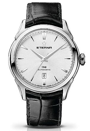 Eterna - 1948 Fecha - Reloj de pulsera analógico automático para hombre 2950.41.11.1175: Amazon.es: Relojes
