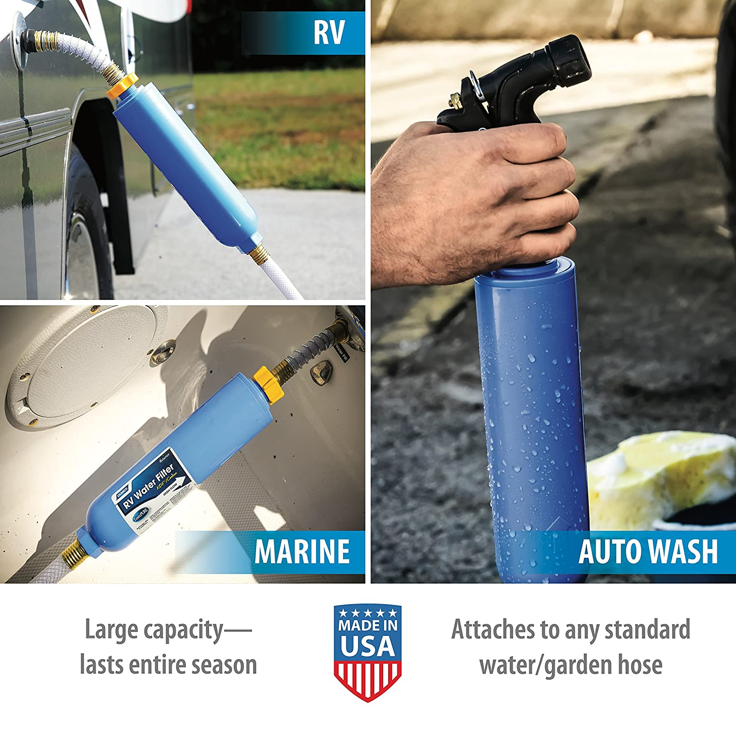 RV In Line Water Filter made our list of camper gifts that make perfect RV gifts which are unique gifts for RV owners