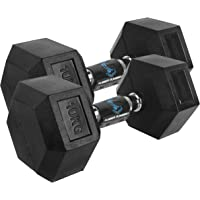 Cockatoo Rubber Coated Professional Hex Dumbbell Set