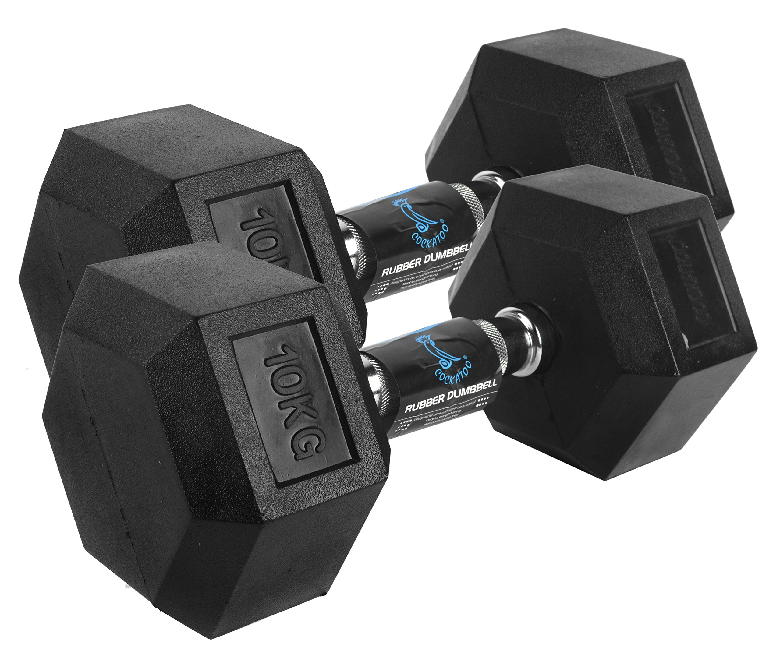 Cockatoo Rubber Coated Professional Hex Dumbbell Set product image