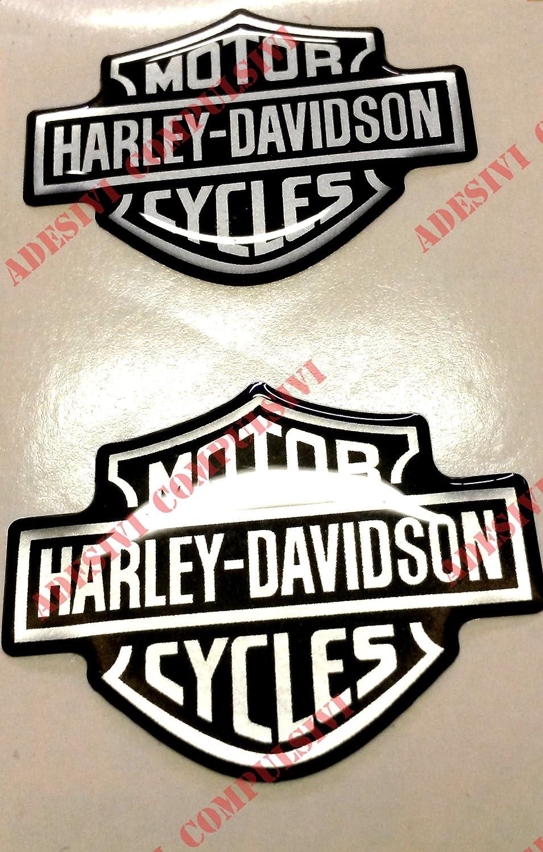 Adhesivo con el logotipo de Harley Davidson, dos pegatinas resinadas con efecto 3D. Para el depósito o el casco.: Amazon.es: Coche y moto
