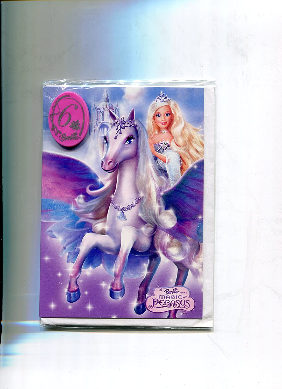 Tarjeta de cumpleaños para Barbie Magic Pegasus Tarjeta de 6 ...