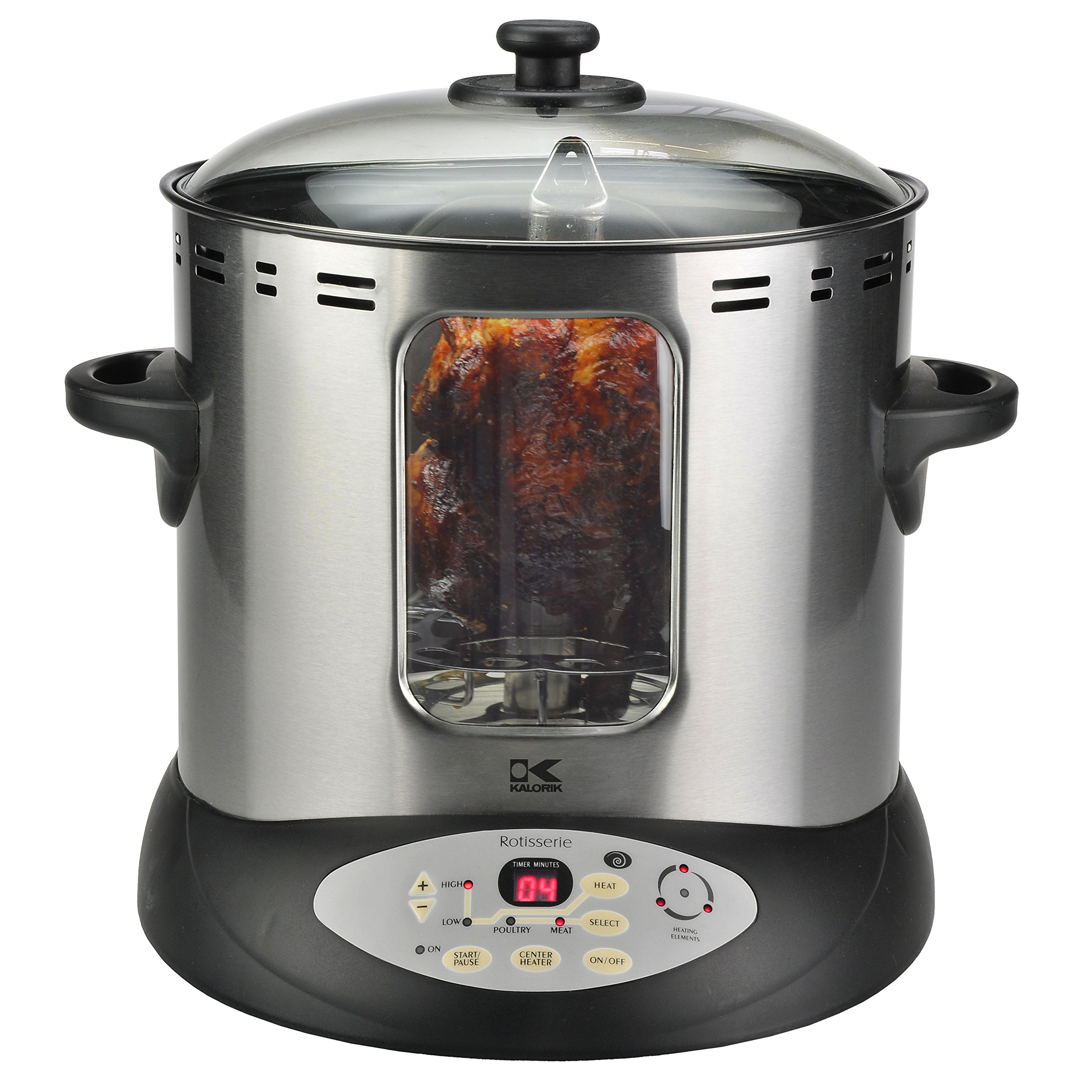 Vertical Digital Rotisserie Oven w/ Non-Stick Interior,Cool Touch Exterior and LED Display Screen