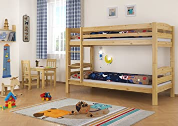 Kinderzimmer Mit Etagenbett : Erst holz stockbett etagenbett kiefer massives hochbett f
