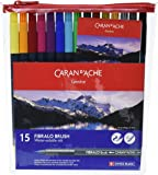 Caran D'Ache Fibralo Water Soluble Brush Pens 15 Pack