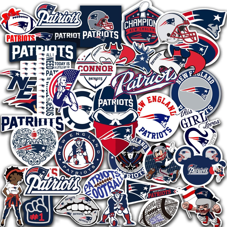 New England Vinyl Patriots Stickers Pack of 60 pcs