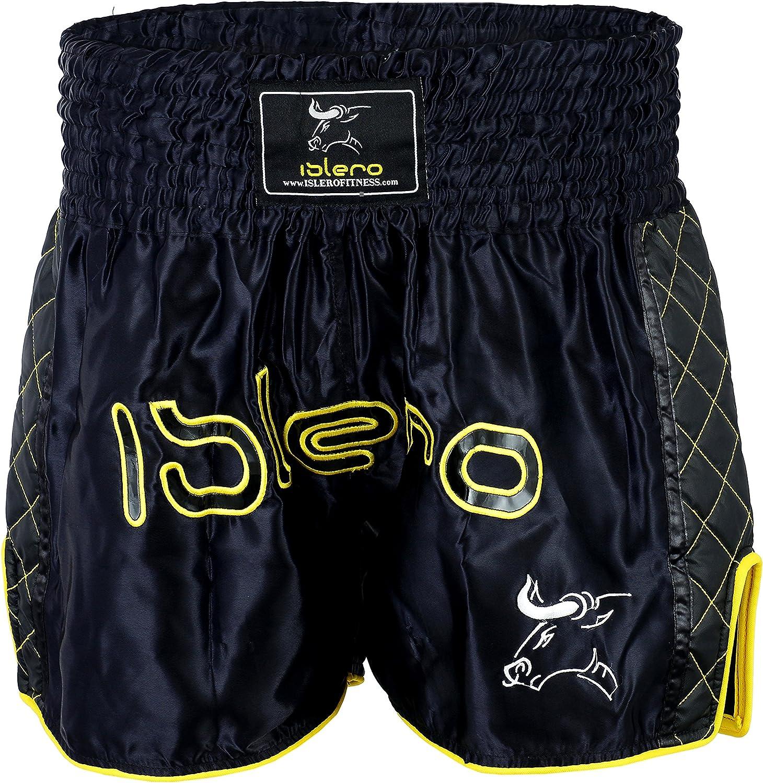 Islero Muay Thai Shorts Fight MMA Kick Boxing Shorts Grappling Martial Arts Gear UFC Cage Fighting Shorts Mens Clothing