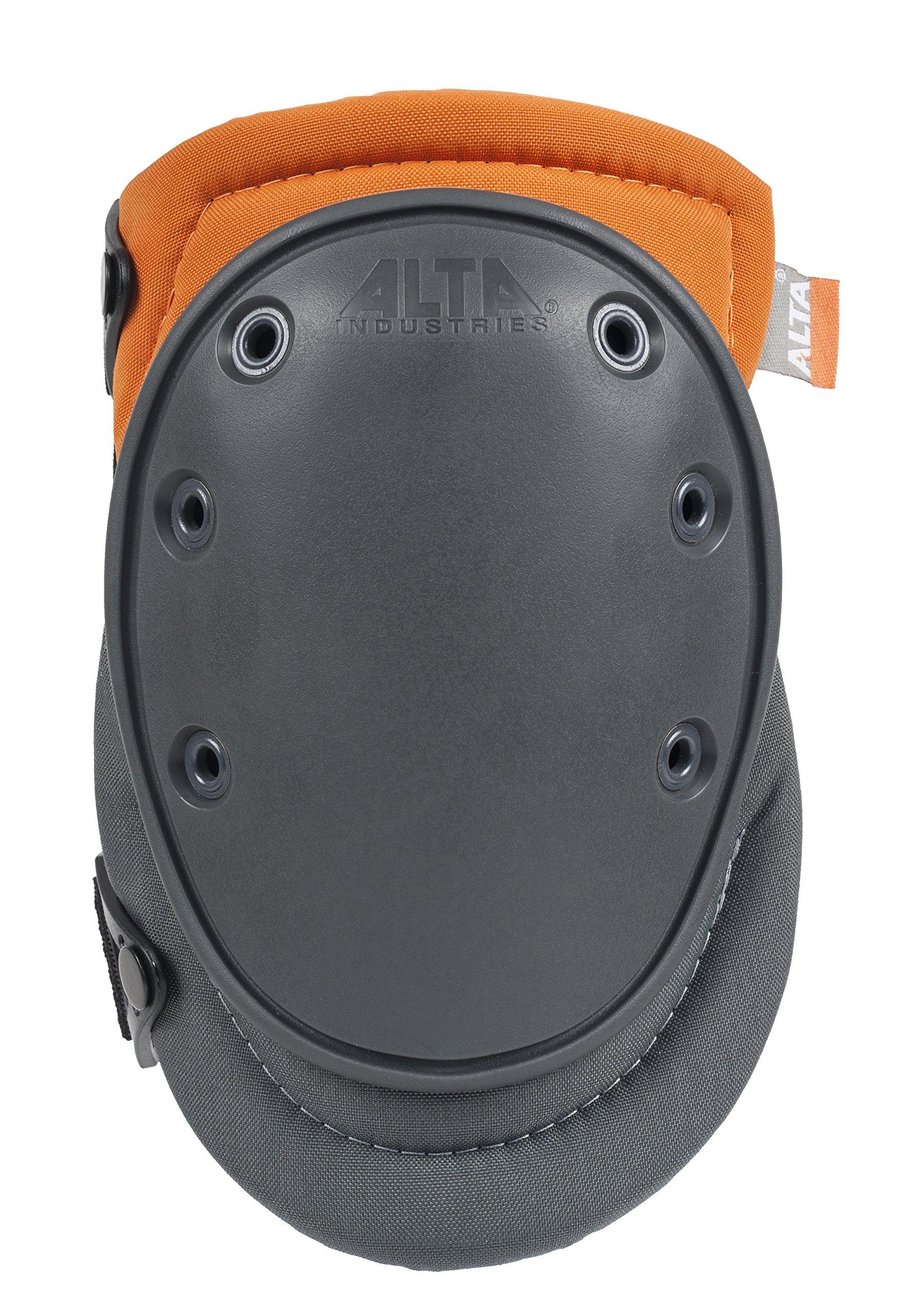 ALTA 50453.50 AltaFLEX Gel Knee Protector Pad, Gray/Orange Cordura Nylon Fabric, AltaLOK Fastening, Flexible Cap, Long, Gray by Alta