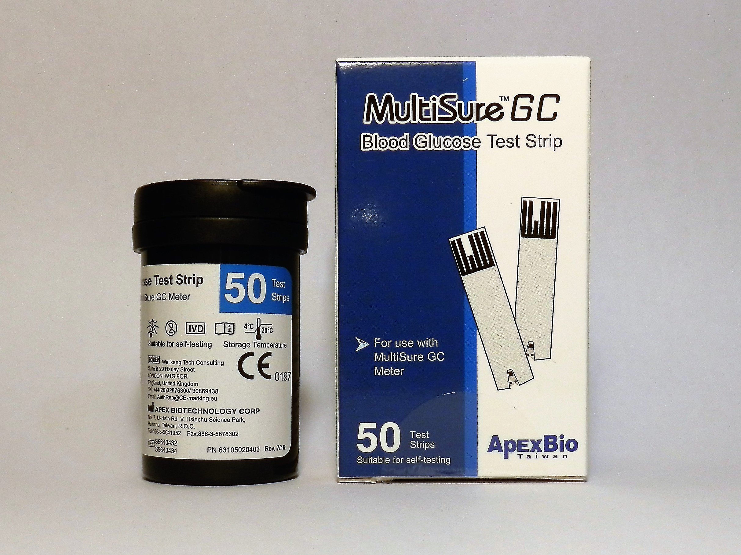 MultiSure GC Blood Glucose Test Strips (50pcs)