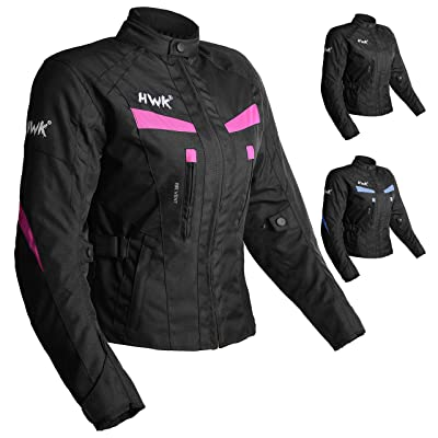 Women's Motorcycle Jacket For Women Stunt Adventure Waterproof Rain Jackets CE Armored Stella (Pink, 4XL): Automotive