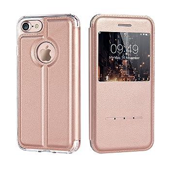 coque iphone 7 cuir rose
