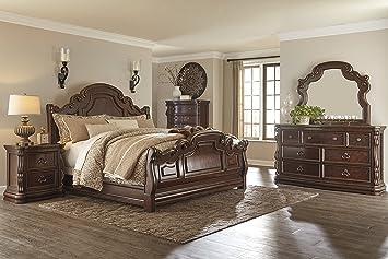 Ashley B715 Florentown Bedroom Set 6 Pc Queen Sleigh Bedroom Set