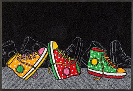 Wash Dry Nero Tappeto Happy Sneakers 50x75