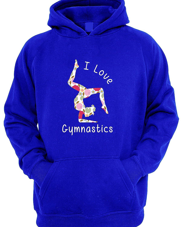 I Love Gymnastics Floral Print Children's Hoodie 44441