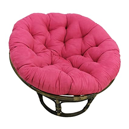 Blazing Needles Solid Microsuede Papasan Chair Cushion, 48u0026quot; X 6u0026quot;  ...