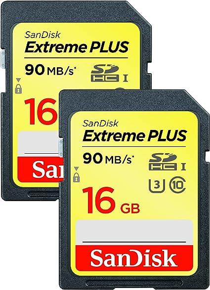 Sandisk Extreme Plus 16gb Sdhc Uhs I U3 Memory Card Computer Zubehör