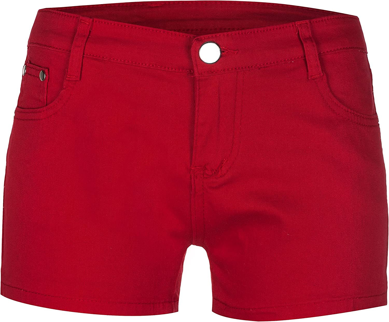 Fringoo Womens Party Shorts Hot Pants Holiday Stretchy 4 Dark Blue