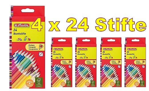 Herlitz Buntstifte Jumbo Malstifte 2 Packungen 2 x 10 Stück