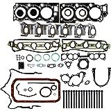 CNS EF057C1HB New Full Gasket Set & Cylinder Head Bolts Kit for 1988-95 Toyota 3.0L 4Runner Pick-up T-100 SOHC (12 Valve) 3VZE Engine