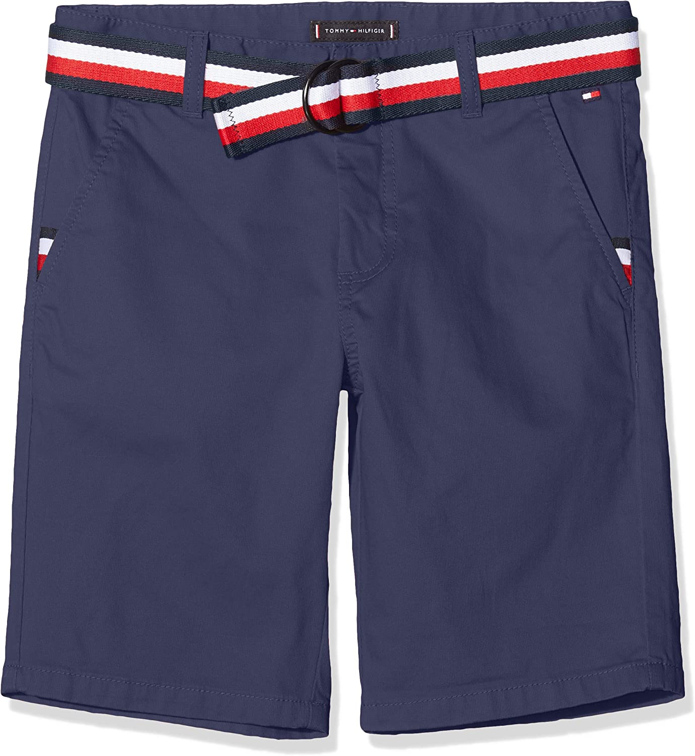 6-7 Years Size:6 Tommy Hilfiger Boys Essential Belted Chino Shorts Twilight Navy 654-860 C87 Blue