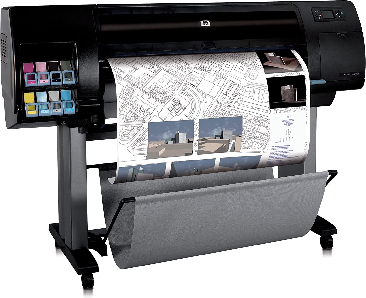 HP Designjet Z6100ps - Plotter (600 x 1200 DPI), negro: Amazon.es: Electrónica