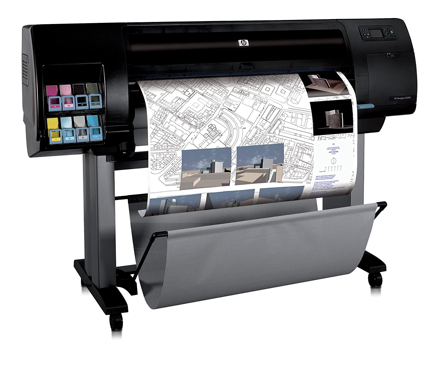 HP Designjet Z6100ps - Plotter (600 x 1200 DPI), negro ...