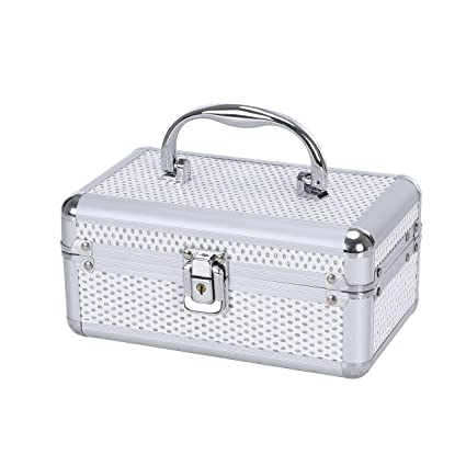 Amazoncom Small Jewelry Box Makeup Storage Case Organizer with