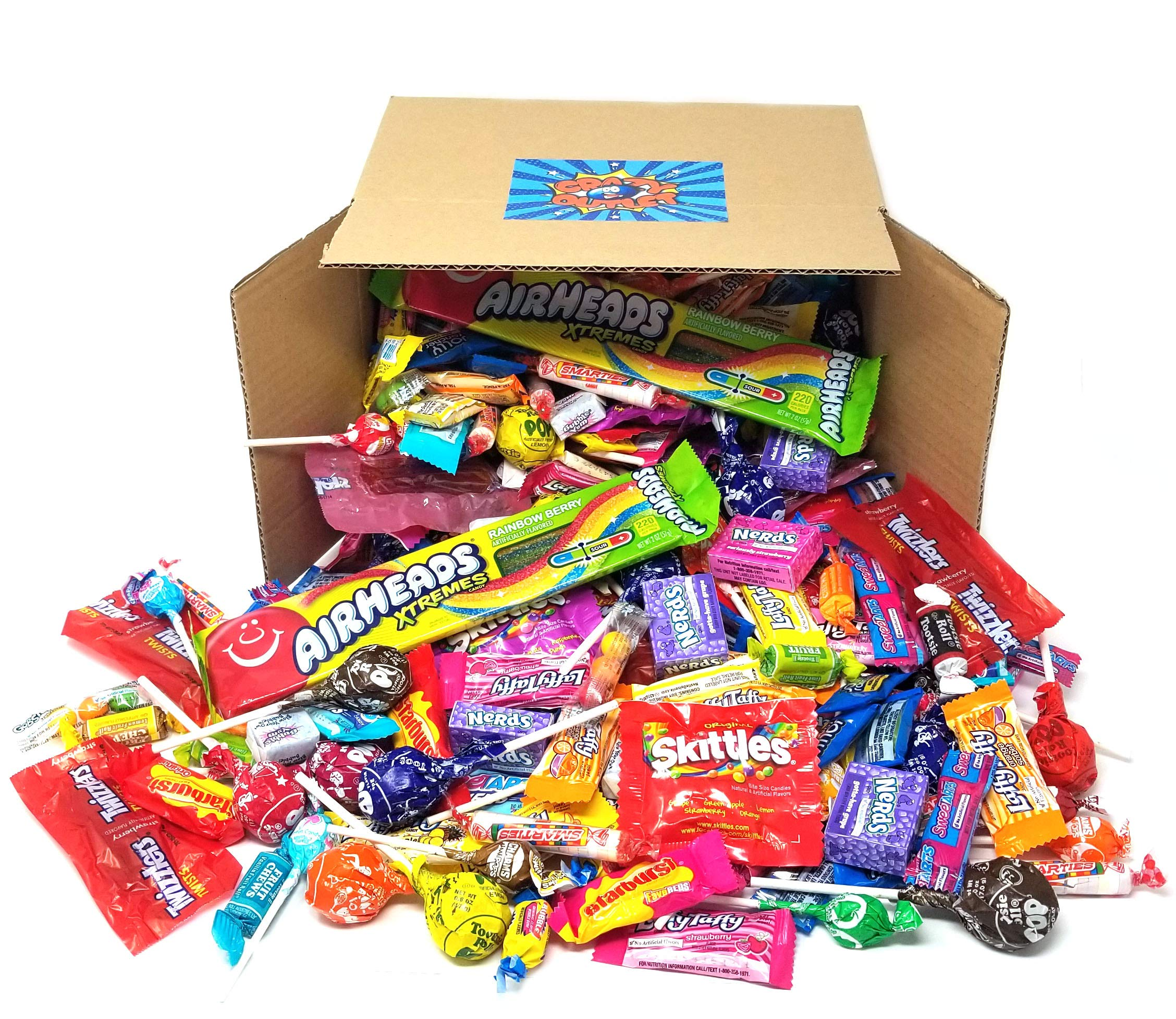 Halloween Candy - Tootsie Roll, Twizzlers, Starburst, Jolly Ranchers, Skittles, Nerds, Smarties, Sweetarts, Charms, Airheads, Dubble Bubble, Bubble Yum, Gobstopper, Laffy Taffy, Bulk Pack, 5 Lbs by CRAZYOUTLET