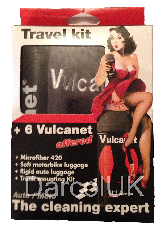vulcanet - Lavado sin agua - Kit de viaje + kennenlern Oferta: 6 vulcanet paños + 1 Paño de microfibra + 1hardcase + 1 - Bolsas para moto: Amazon.es: Coche ...
