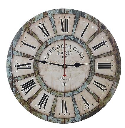 Amazon.com: Old Oak Decorative Wall Clock Vintage Large 16-Inch ...