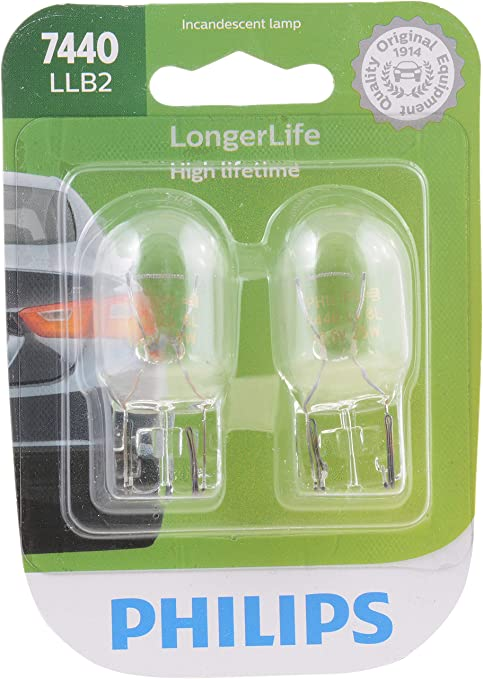 W5W 12V 5W Map Bulb Philips Pair Miniatures Long Life Replacement Bulbs 12961LL