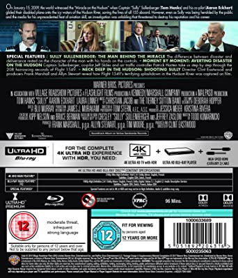 7655434cff4 Sully  Miracle On The Hudson 4k Ultra HD + Blu-ray + Digital Download 2016   Amazon.co.uk  Tom Hanks