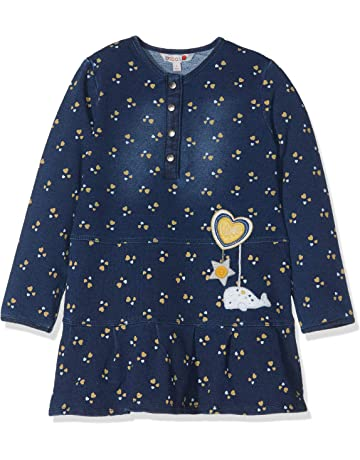 boboli Fleece Dress Denim For Baby Girl, Vestido para Bebés