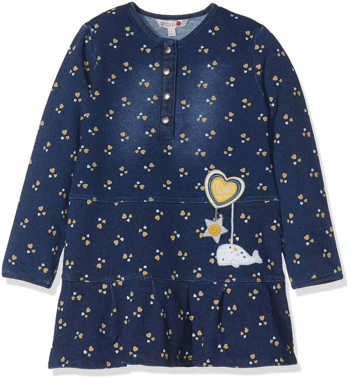 Vestido para Beb/és boboli Fleece Dress Denim For Baby Girl