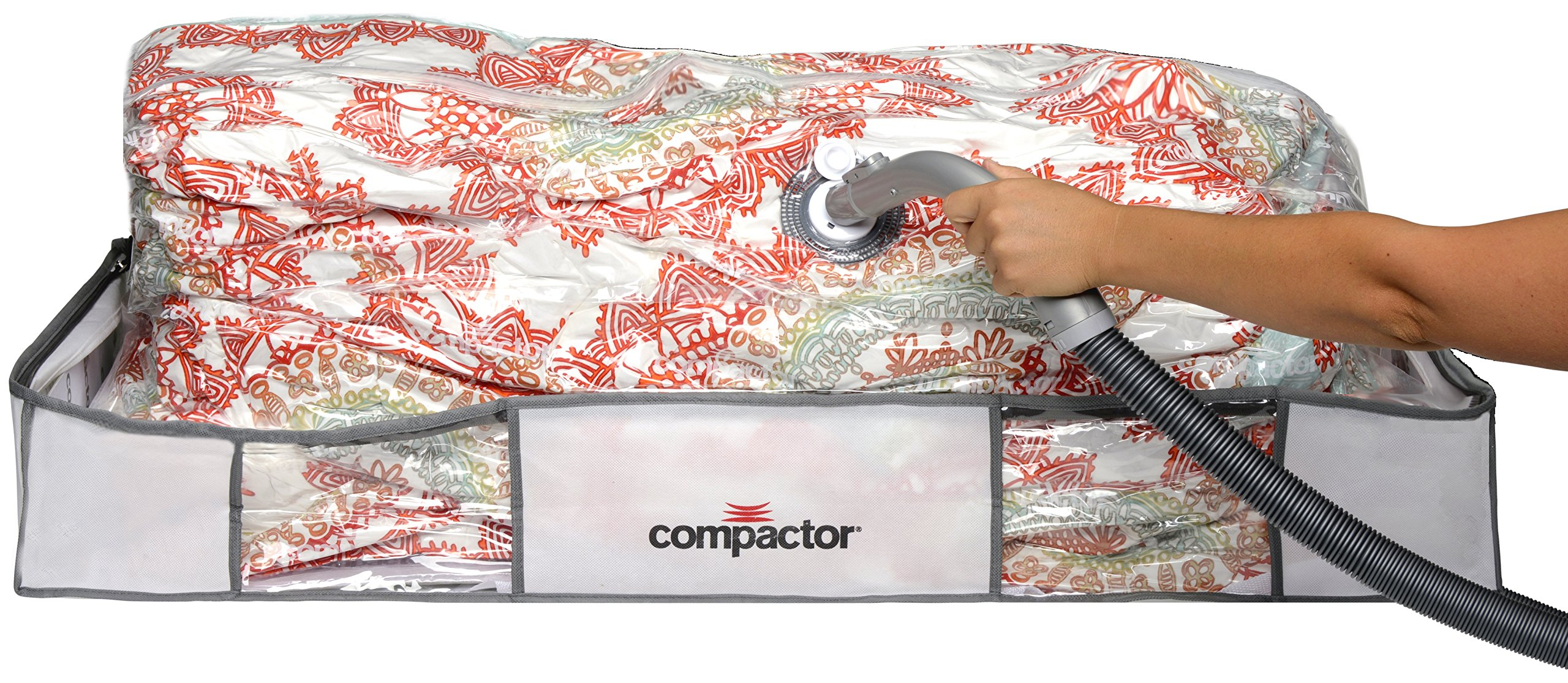Compactor Classic Space Saver Vacuum Storage Under Bed Solution Vacuum Bag to protect Clothes, Pillows, Duvets, Comforters, Blankets - Extra Large XL (41x18x6)