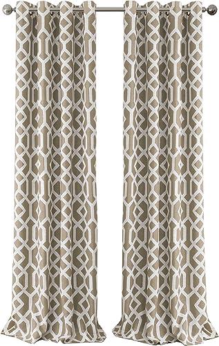 Deal of the week: Elrene Home Fashions 26865901221 Grayson Trellis Room Darkening Grommet Linen Window Curtain Drape Panel